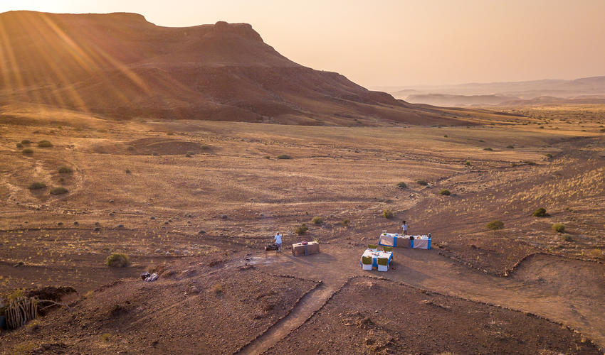 Damaraland's unbeatable alfresco breakfast spot