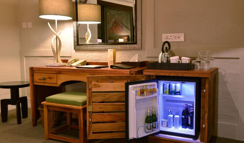 Each Standard, Deluxe and Suite room will have a mini bar for your convinence