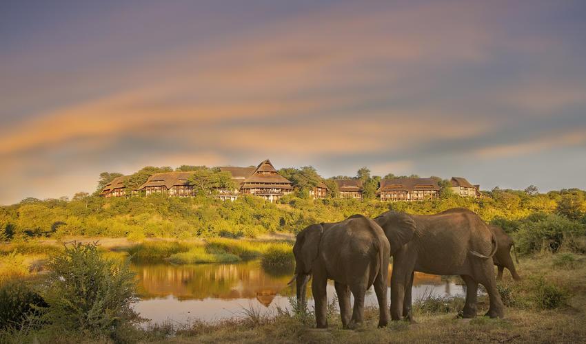 View of Victoria Falls Safari Lodge from the Siduli Hide