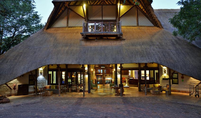 Entrance into Victoria Falls Safari Lodge