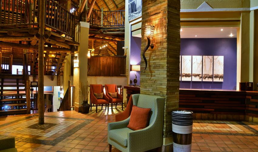 Victoria Falls Safari Lodge reception area