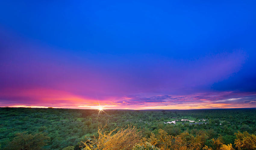 View from the Victoria Falls Safari Lodge deck