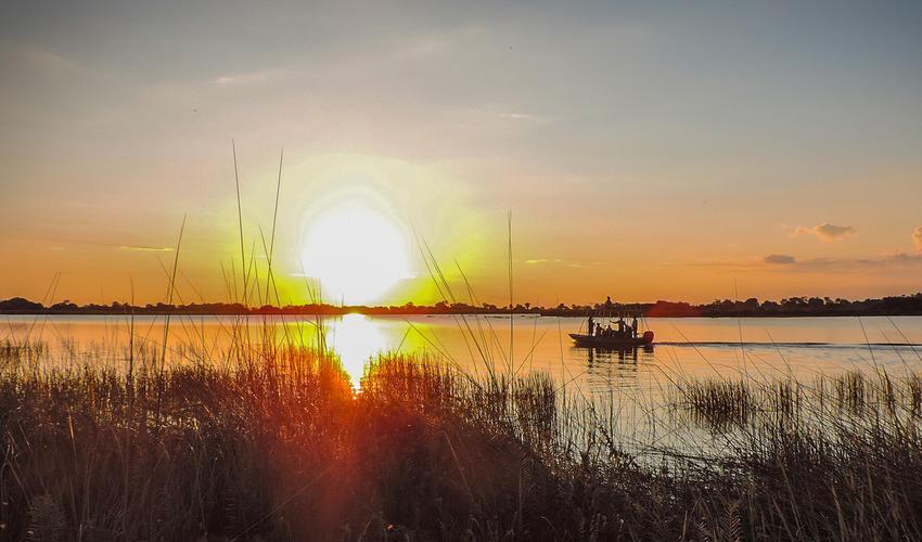 Boat cruise sundowner