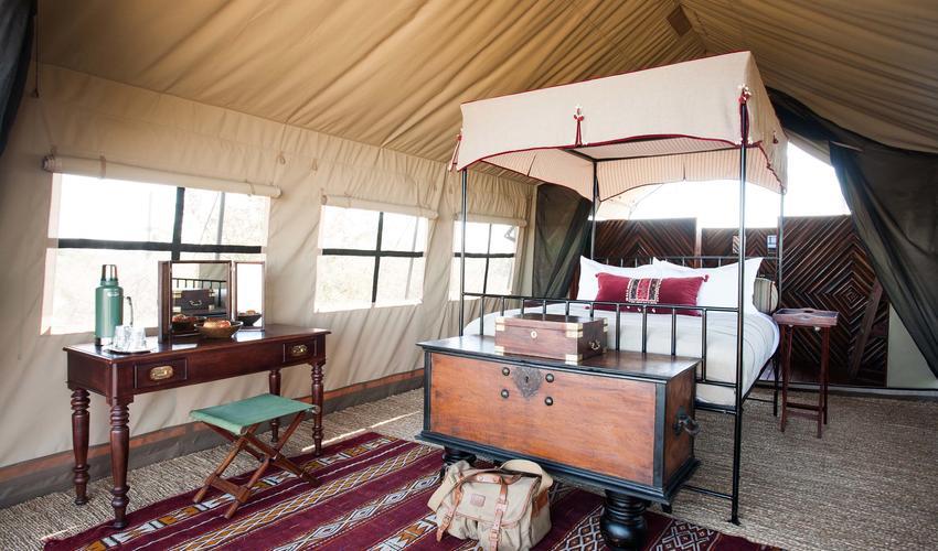 Double Tent Interior