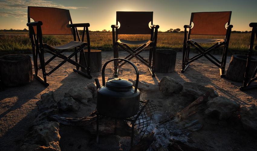 Breakfast camp fire