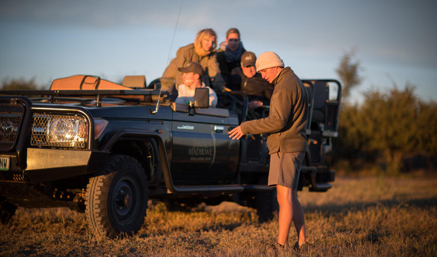The game drives in Madikwe Game Reserve