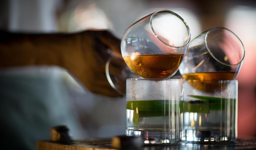 Serving cognac
