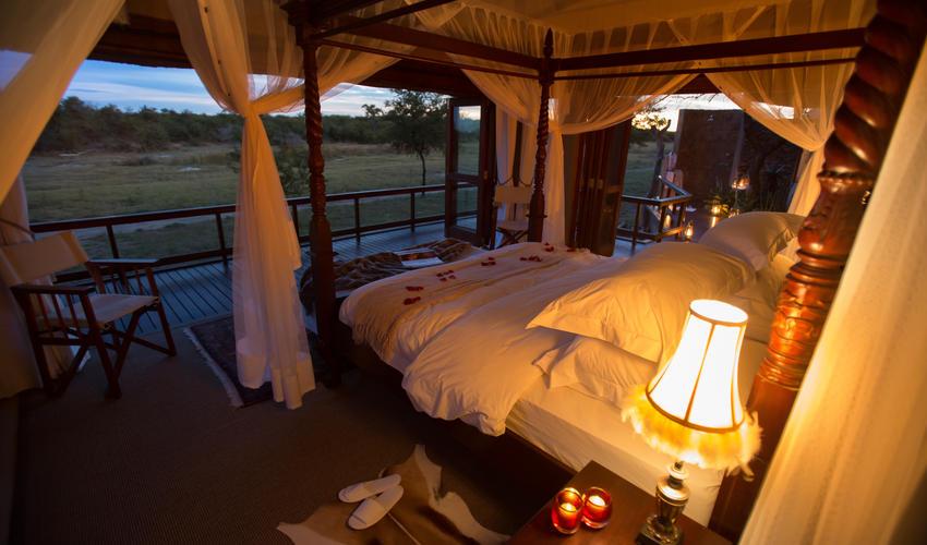 The villa's and bedroom turndown