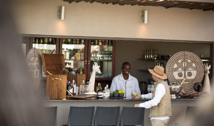 The bar on the front deck at jamala