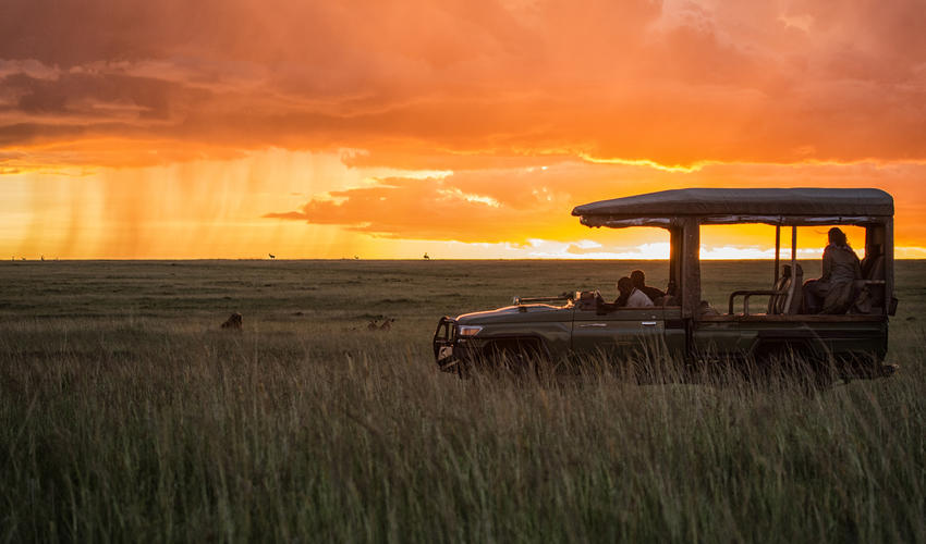Sunset in the Olare Motorogi Conservancy
