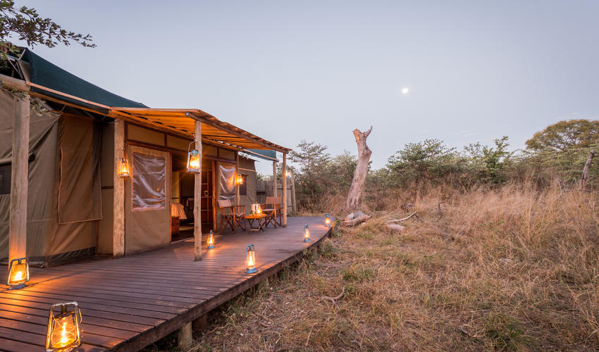 Tented Camp in the Evening