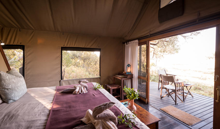 Luxury Tented Room Overlooking the Selinda