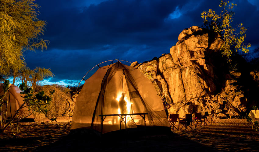 Experience a night of fly camping