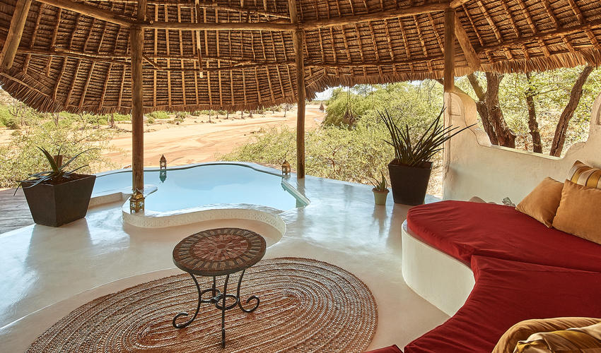 Suite two with views of Ewaso Nyiro River