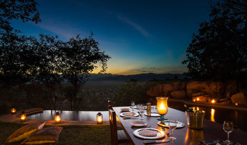 Dinner under the stars in the Private House garden