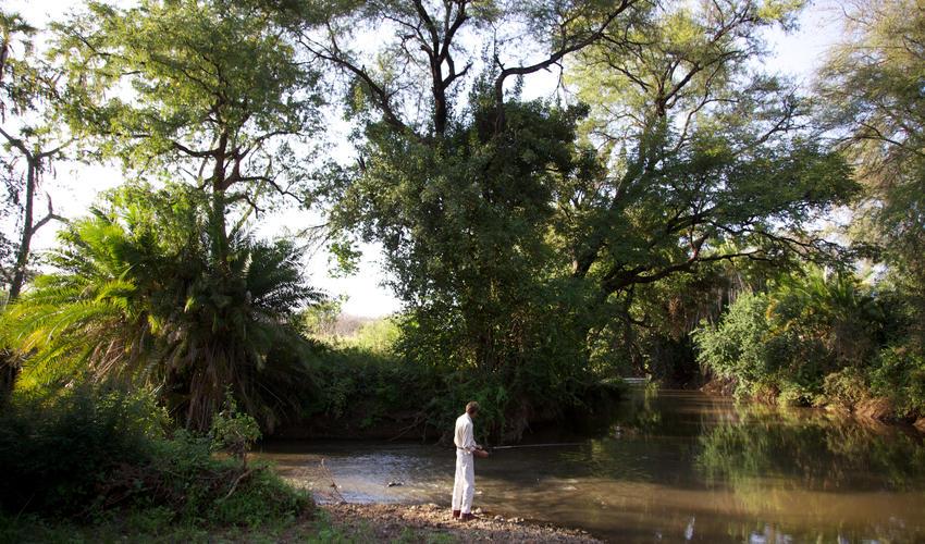 Fishing on the Rojeweru River