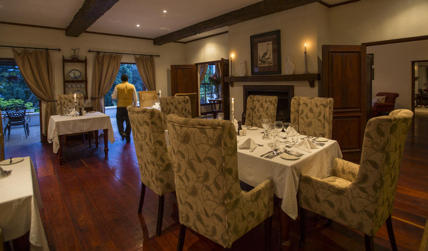 Elegant dining in the main Manor House