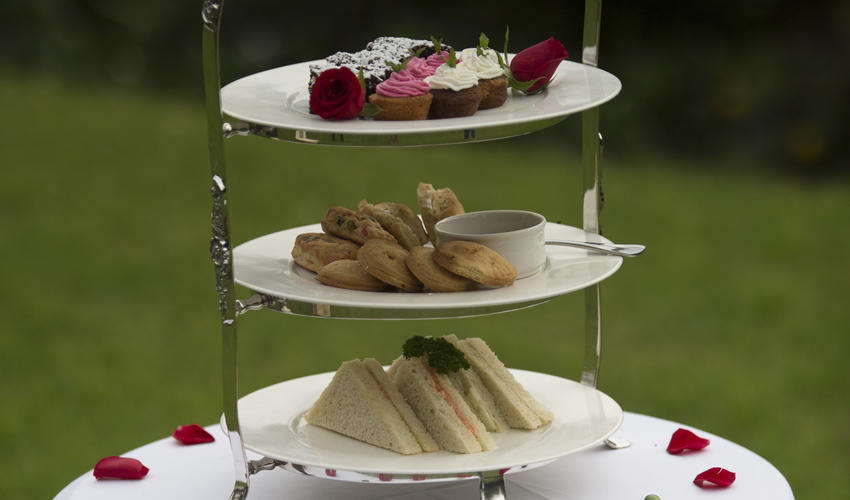 High tea in the Manor gardens