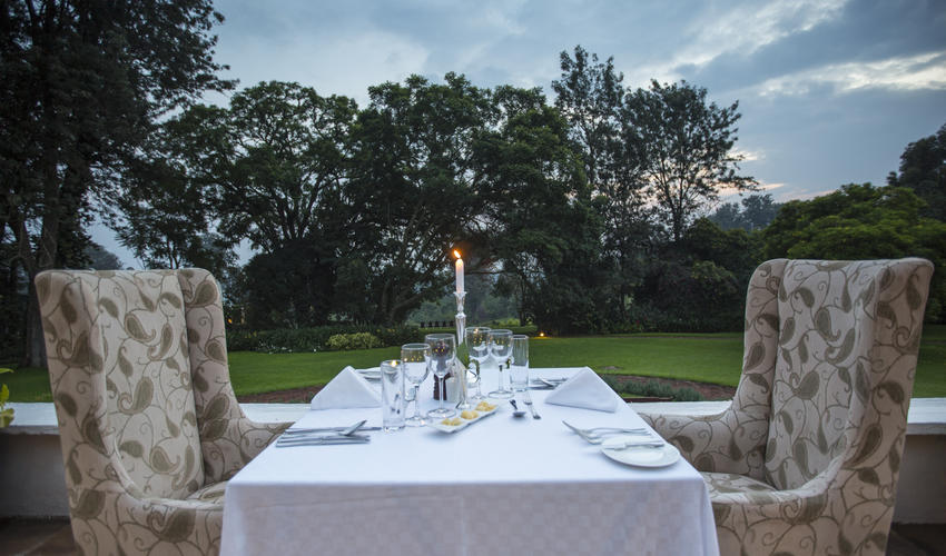 Romantic private dining at The Manor
