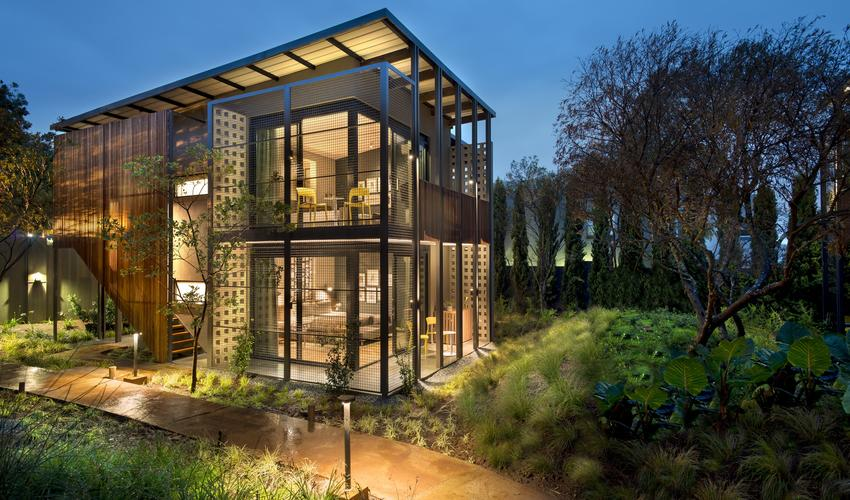 Floating garden pavilions, 4 rooms per block; 2 separate rooms upstairs, 2 ground floor rooms with inter-leading option
