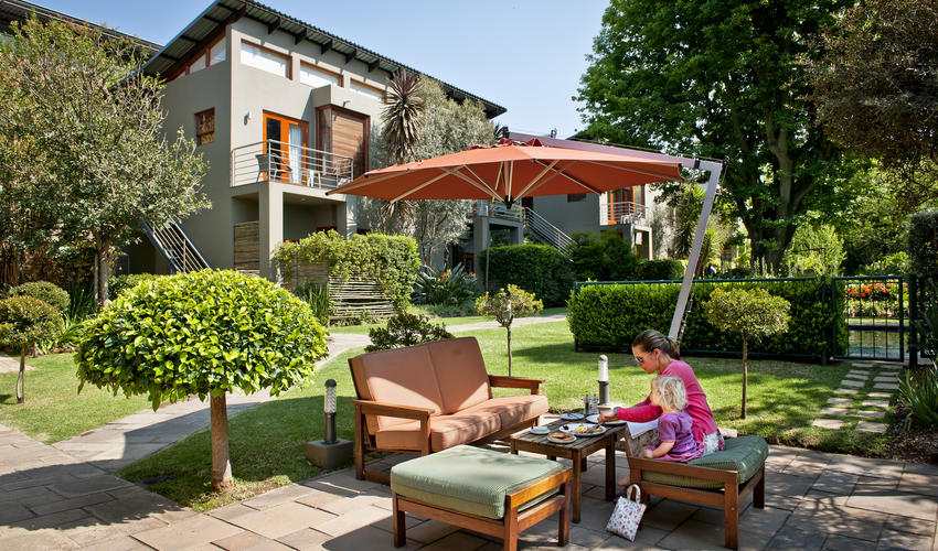 Relax and enjoy our lush and tranquil outdoor areas