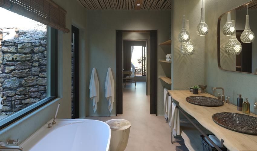 Rendering of a new bathroom in a legae