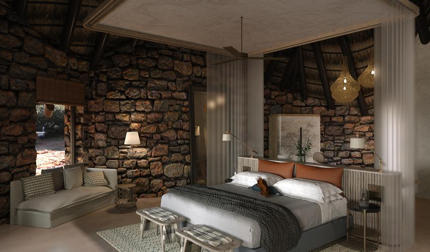 Rendering of a new suite at The Motse