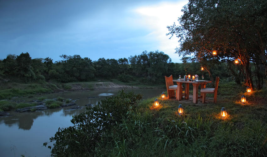 private diner by the river