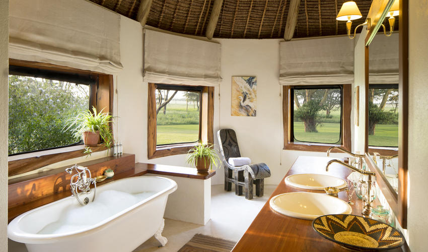 Luxurious and spacious bathrooms
