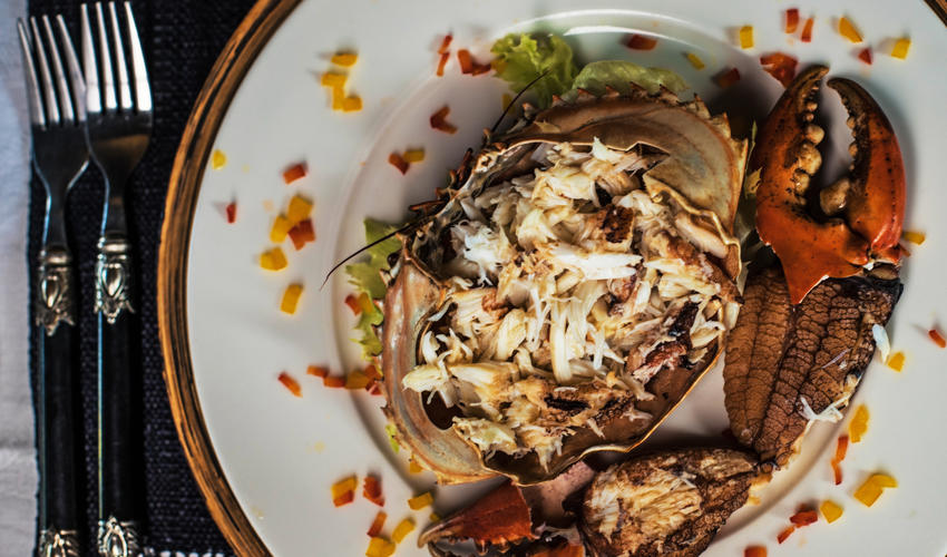 Fresh crab salad served in your private villa