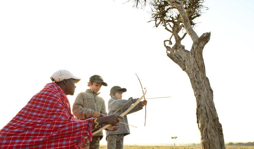 Children activities - bows & arrows
