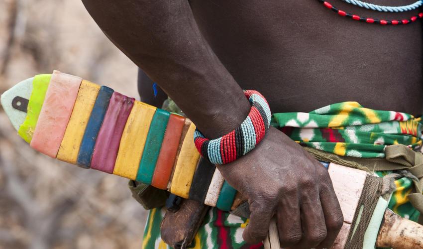 Colorful local Samburu people