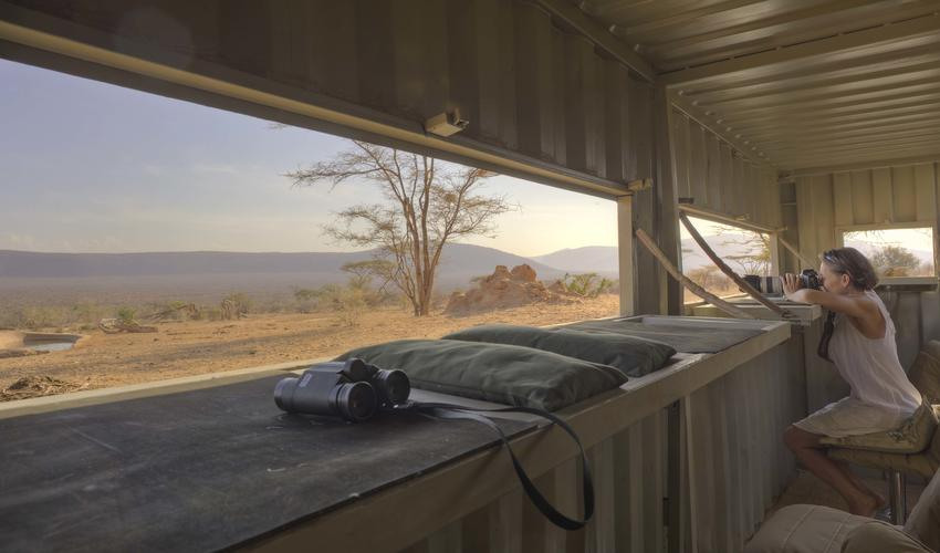 The Photographic Hide overlooking the Waterhole
