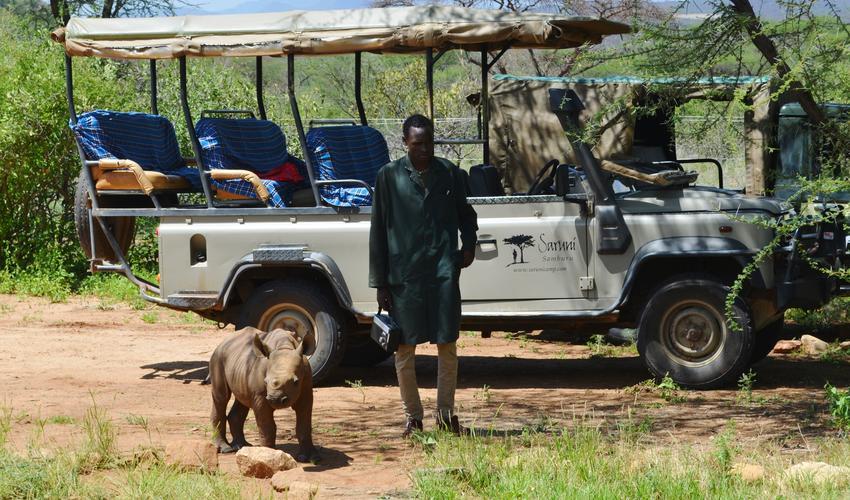 Loijupu the baby Rhino at Reteti Sanctuary