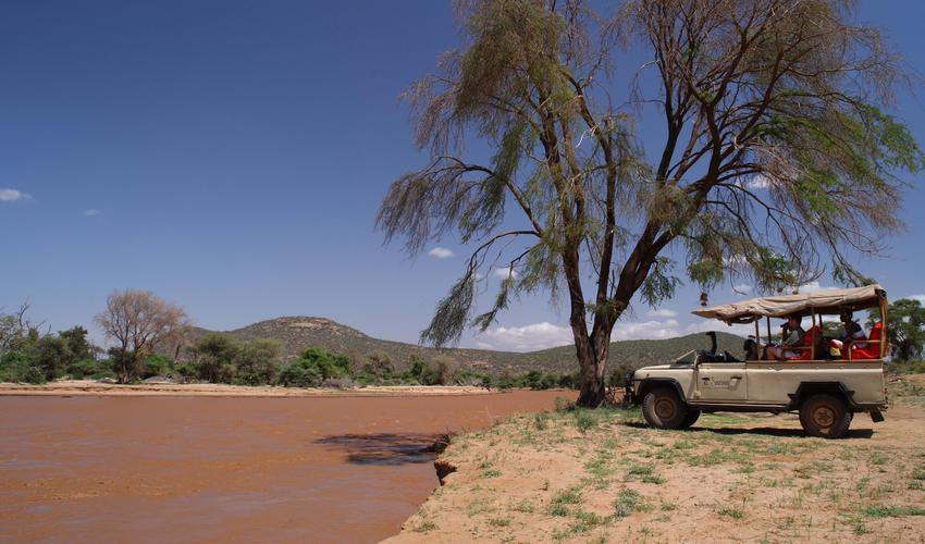 Game drives along the river