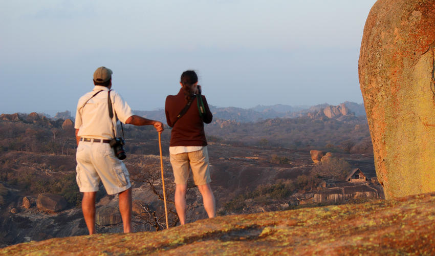 We try and offer an early morning walk from the camp on the gorgeous Big Cave Property