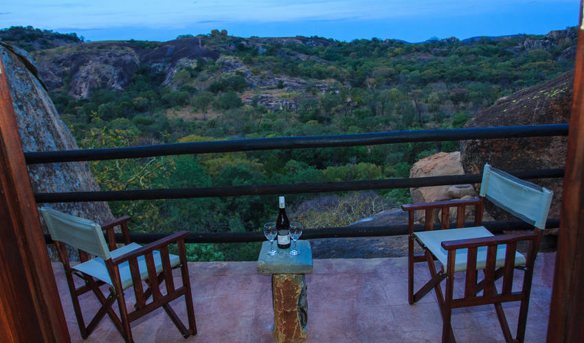 All of the lodges have wonderful views across the Matobo National park.