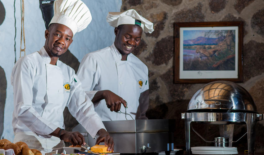 We have three qualified chefs at Big Cave who produce some delicious food on a daily basis.