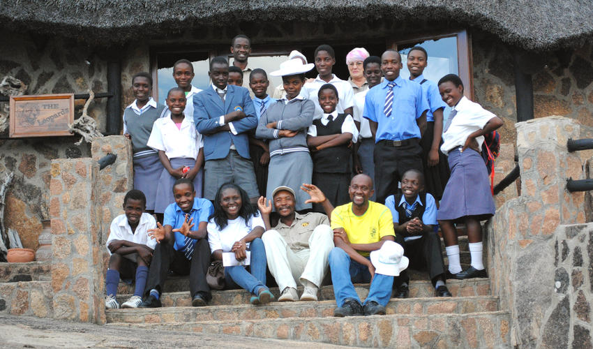 Every year we sponsor the 16 children that have achieved the highest standards at school to a field trip.
