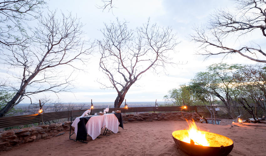 Romantic Dining in the boma
