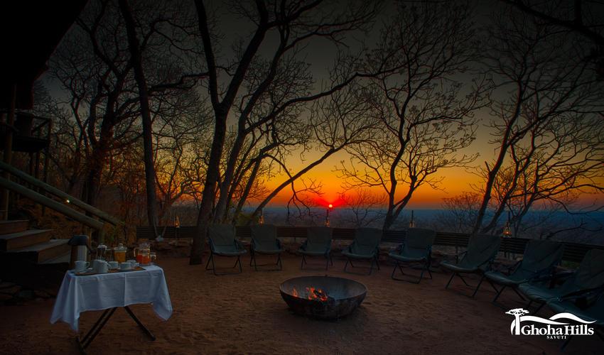 Early morning sunrise & breakfast in Boma