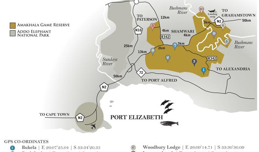 Amakhala Map