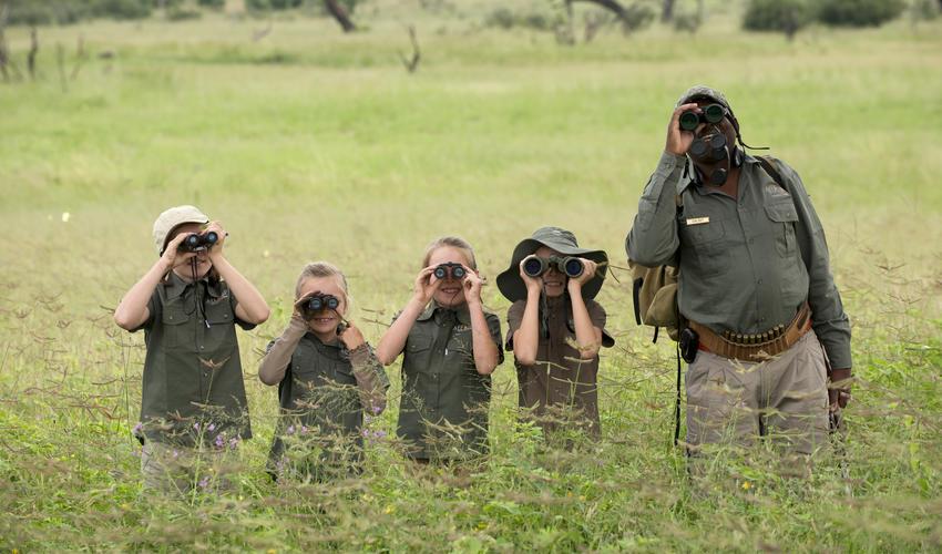 A guided safari for the children