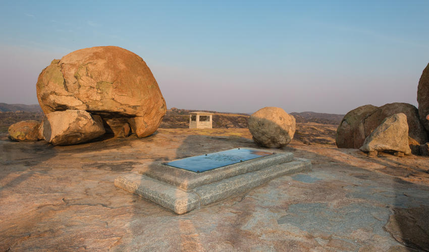 Final resting place of Cecil John Rhodes, pioneer and founder of Rhodesia.