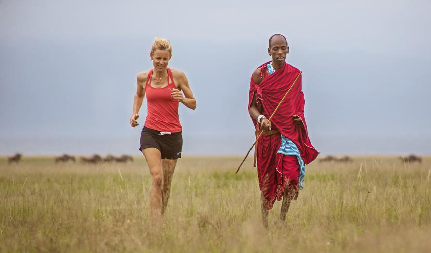 Enjoy a run with a Maasai