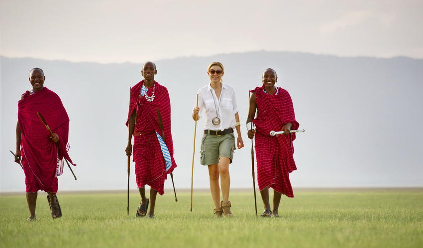 Take a walk and learn about the Maasai