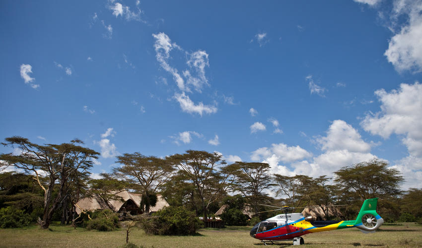 Helicopter Safaris from Solio