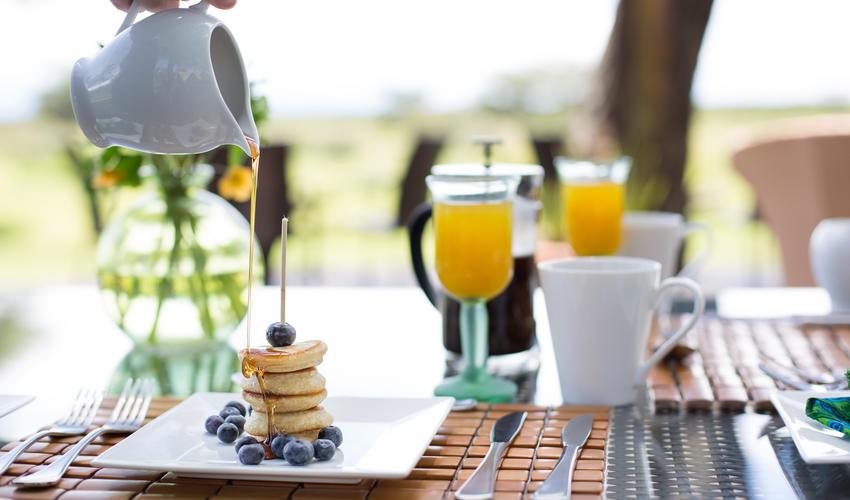 Delicious breakfast pancakes