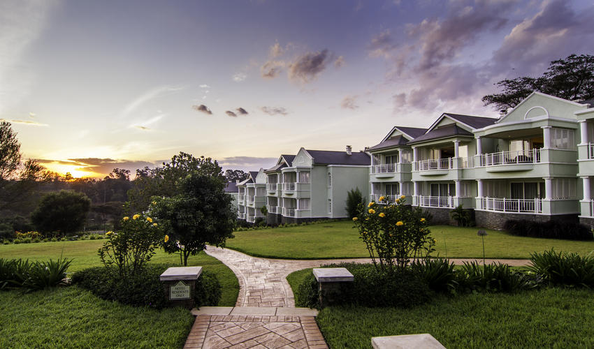 Beautiful sunset view of Ngong hills viewed from all rooms