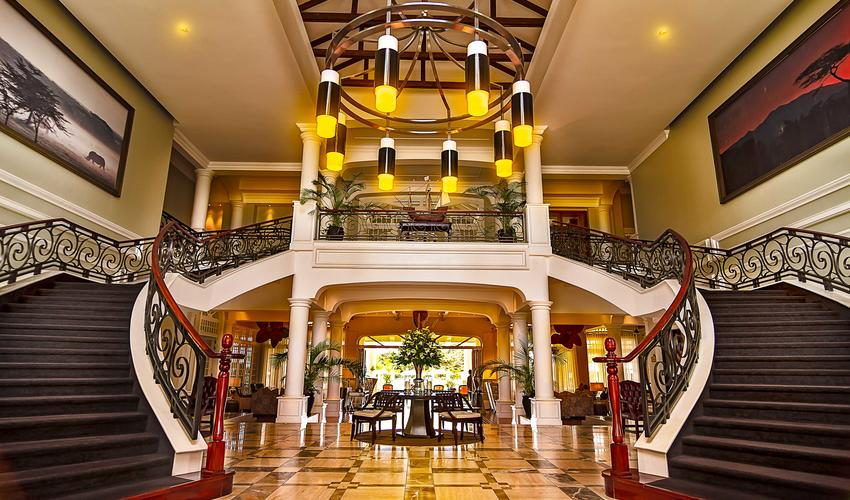 Hemingways Nairobi Lobby Stairway Entrance day time